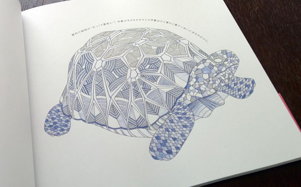 動物たちのぬり絵ブック 亀