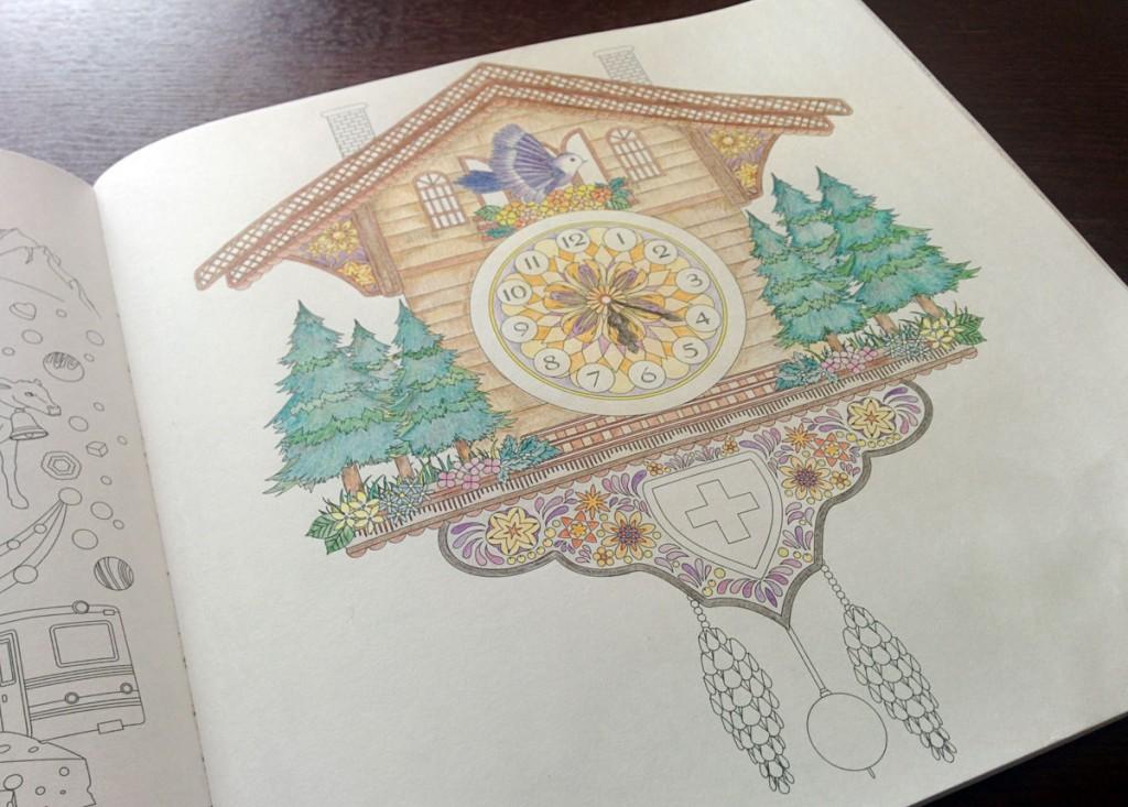 『奇跡の鳥の旅 ぬり絵BOOK スイスの鳩時計